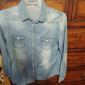 Charlotte Russe Small Chambray button up shirt